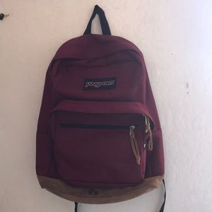jansport right pack backpack (russet red)
